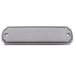Messing Tür-Namensschild nickelmatt N155