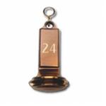 Hotel Schlüsselanhänger Messing bronziert SAB/B