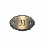 Messing Tür-Namensschild bronziert B74