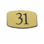 Nummernschild Messing MS66