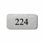 Aluminium Tür-Namensschild Niro Look TN101