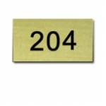 Nummernschild Messing MS22