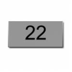 Nummernschild Alu AS22