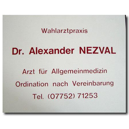 Arztschild Kunststoff Acrylex