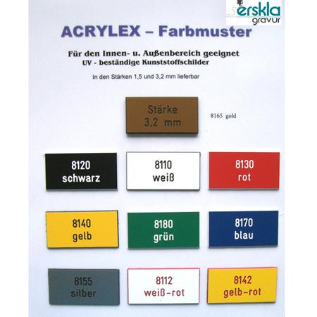 Kunststoff Schild Acrylex (UV-beständig)