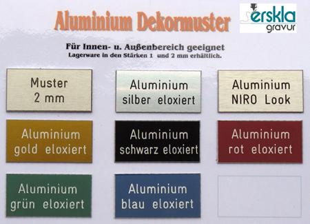 Aluminium Tür-Namensschild AF3