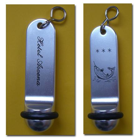 Hotel Schlüsselanhänger Alu silber SAA301