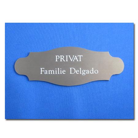Kunststoff Tür-Namensschild PF2
