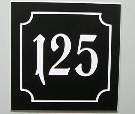 Kunststoff Hausnummer