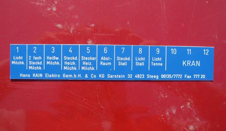 Industrie Schild Poly Kunststoff