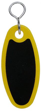 Schlüsselanhänger Kunststoff goldgelb SA18