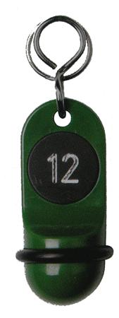 Schlüsselanhänger Kunststoff minzgrün SA17