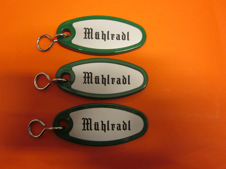 Schlüsselanhänger Kunststoff minzgrün SA18