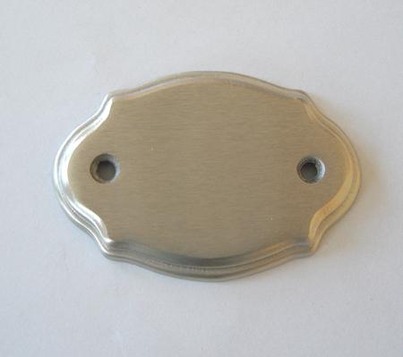 Messing Tür-Namensschild nickelmatt N74