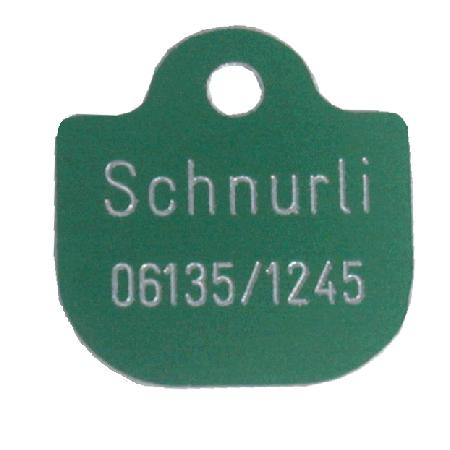 Anhänger Alu Tasche ca. 30x30mm