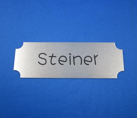 Aluminium Tür-Namensschild AF5