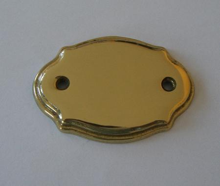 Messing Tür-Namensschild poliert P74