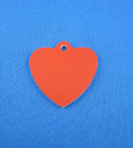 Anhänger Kunststoff  Herz ca. 30x30mm