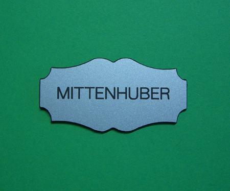 Kunststoff Tür-Namensschild PF1