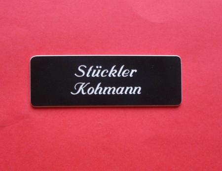 Kunststoff Tür-Namensschild P4