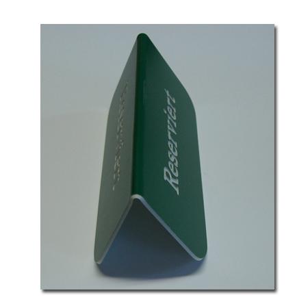 Tischaufsteller beids. Gravur 15x8 cm