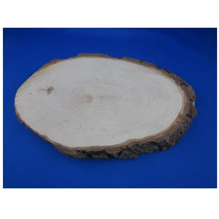 Geschenkidee Holzbrett mit Rinde ca. 32x15 cm