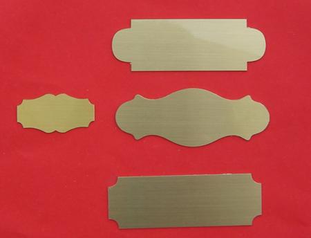 Messing satiniert Tür-Namensschild MF3