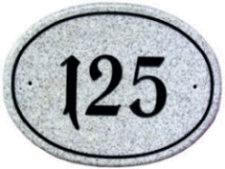 Corian Granit Design Hausnummer 28x20cm