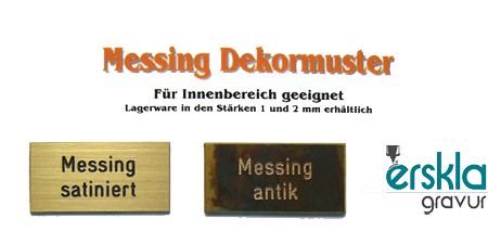 Nummernschild Messing MS44