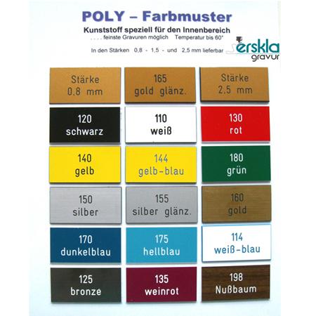 Nummernschild Poly NS66